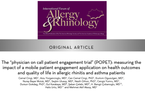アレルギー性鼻炎や喘息患者におけるモバイルアプリの有効性