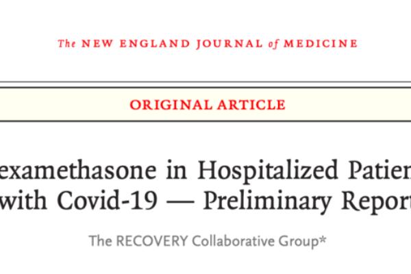 【速報】COVID-19に対するデキサメタゾンの効果
